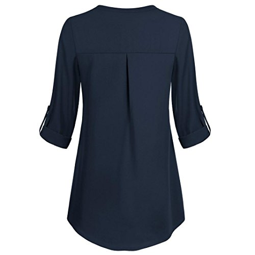 Imprim Bleu 3 Manches 4 Femme Chemisier Bustier Kanpola Col Marine Cachemire boutonn Women qPTyOt