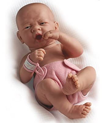 "La Newborn Boutique - Realistic 14"" Anatomically Correct Real Boy Baby Doll - All Vinyl ""First Tear"" Designed by Berenguer - Made in Spain"