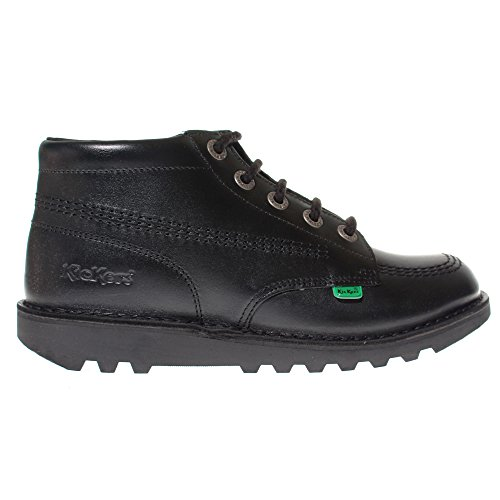 Kickers Kick Hi Leather Kids Shoe, UK 5 Black
