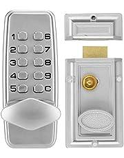 Waterdicht Codeslot-Wachtwoordslot, 2-4 Cijfers Mini Mechanisch Codeslot, Kast Binnendeur Buiten Wachtwoordbeveiliging Gecodeerd Slot-Zinklegering