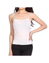 Billila Women Loose Thin Chiffon Spaghetti Strap Vest Blouses Shirts