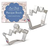 Ann Clark Cookie Cutters 2-Piece Crown Cookie Cutter Set with Recipe Booklet, Crown and Princess Crown