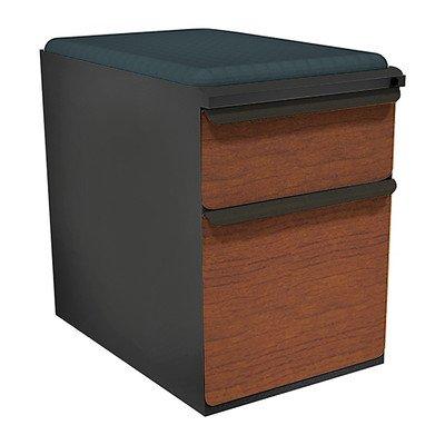 Zapf 2-Drawer Mobile Pedestal File Cabinet Fabric Finish: Fenne, Drawer Finish: Solar Oak Laminate, Frame Finish: Pumice by Marvel