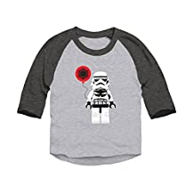 Trunk Candy Toddler Valentines Stormtrooper 3/4 Sleeve Raglan Baseball T-shirt