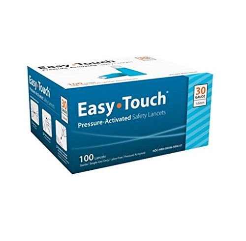Easy Touch 830061 Safety Lancet, 30 g x 1.6 mm (Pack of 100)