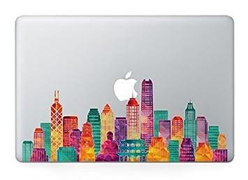 Decalshut Hong Kong skyline decal stickers Vinyl macbook pro