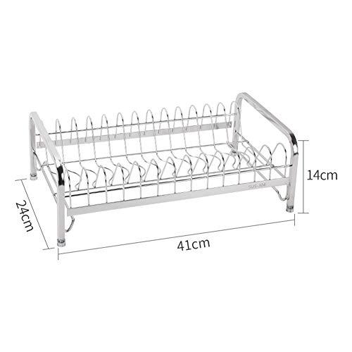 Kitchen Storage Shelf Storage Racks Wall Pot Rack Storage Basket Shelf Baskets Oven Stand 304 Stainless Steel Single-Layer Dish Rack Drain Rack White 244114cm ZHAOYONGLI by ZHAOYONGLI-shounajia (Image #3)
