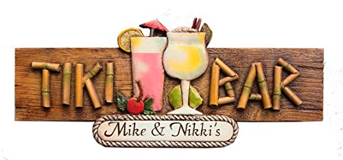 (Piazza Pisano Tiki Bar Personalized Sign Large Version)