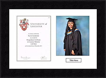 Graduation Picture Photo Frame with Certificate Personalised with ...