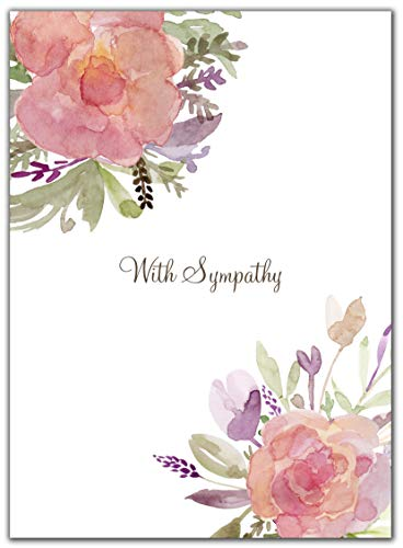 Sympathy Cards with Envelopes Set – 10 Cards – Blank Condolence Card Pack for Funeral and Bereavement Greetings. Sorry for Your Loss, and Thinking of You. ()