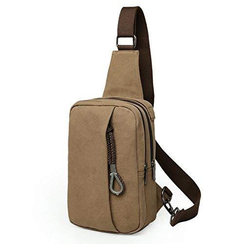 15ddf44f42 Chest Bag Home Borsa a Tracolla da da da Uomo Multifunzione Outdoor Sport  Borsa a Tracolla Moda Messenger Zaino (caffè) 3486f6