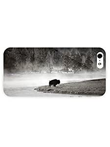 3d Full Wrap Case For Iphone 4/4S Cover Animal Buffalo In The Fo