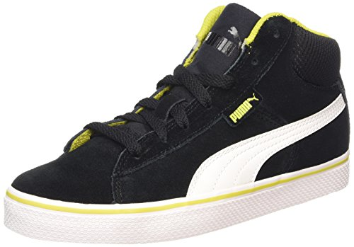 1948 Vulc Milieu Pumas Chaussures De Sport Unisexe Adulte Haut Noir (noir-blanc 01)