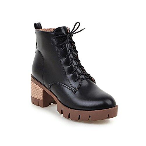 Dear Time Women Zipper Block Heels Ankle Boots lqEmfJNHYv