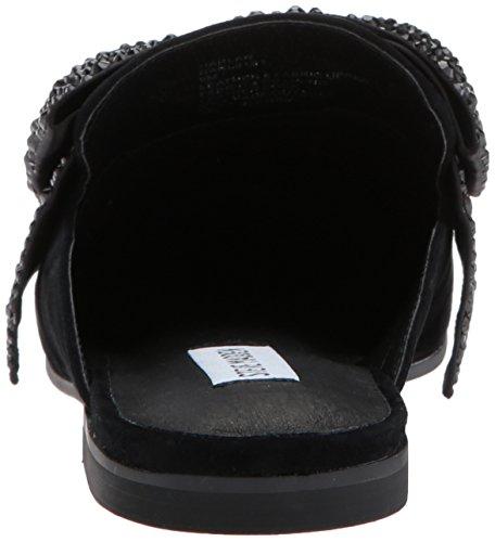 Steve Madden Women Harlan Loafer Flat Black Suede