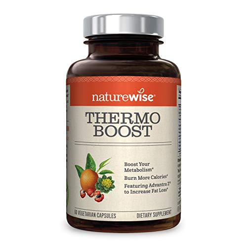 NatureWise Thermo Blend Metabolism Booster — Natural Thermogenic Fat Burner, Appetite Suppressant & Weight Loss Pills for Men & Women with Green Tea Extract & Bitter Orange, Vegan & Gluten Free, 60 ct