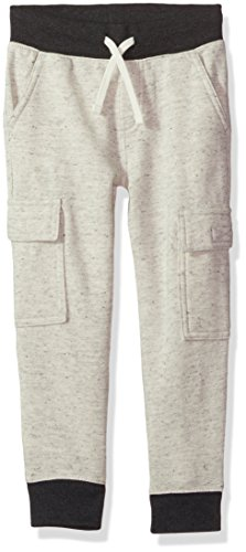 Gymboree Little Boys' Cargo Knit Joggers, Black Single Dye, M - Boys Knit Pants