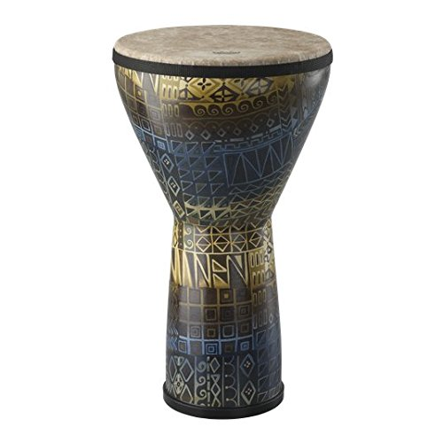 Remo Large (21'' x 12'') Festival Djembe, Island Design by Remo