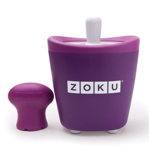 Zoku Single Quick Pop Maker, Make Popsicles in as Little as 7 Minutes, Purple (Making Coconut Yogurt Without A Yogurt Maker)