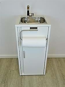 Lavabo port til blanco incluye fregadero de acero inoxidable con soporte para rollo de cocina - Lavabo portatil ...