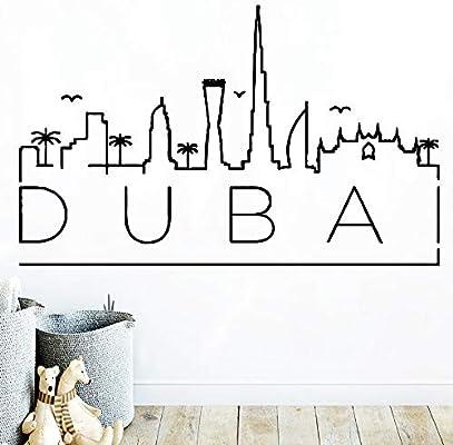 Creativo Mapa de Dubai Pegatinas de Pared Fresca Pvc Mural Art Diy ...