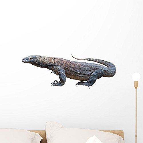 Wallmonkeys Komodo Dragon Wall Decal Peel and Stick Graphic WM144371 (24 in W x 15 in - Endangered Dragons Komodo