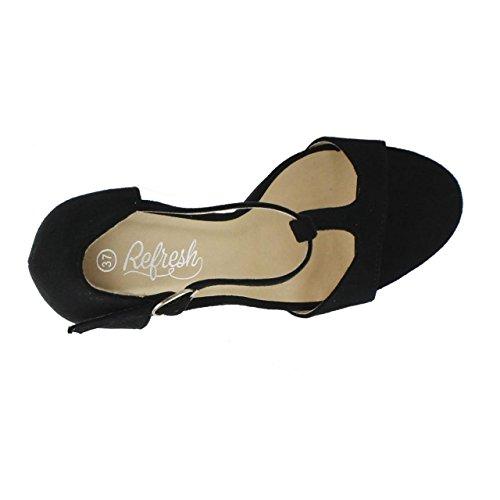 Antelina Sandales Pour 61948 Refresh Negro Femme PI1q4Pnxa