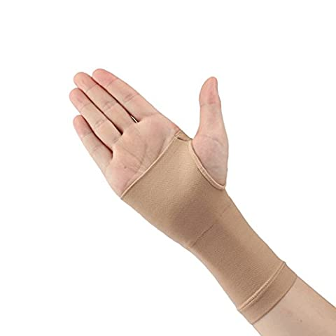 Huluwa Wrist Support Ultra-thin Medical Grade Breathable Wrist Sleeve with Carpal Tunnel, Beige, XL