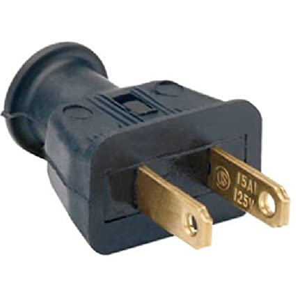 Legrand-Pass & Seymour 183BKCC20 15-Amp Residential Two Wire Plug ...
