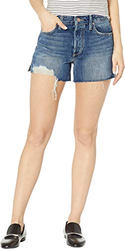 Joe's Jeans Women's The High Rise Smith Shorts, Martina, Blue, 25 - Joes Distressed Jeans