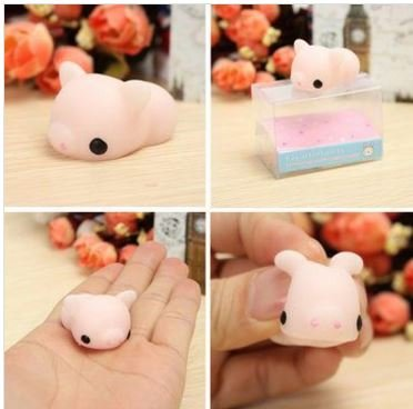 Mochi Pink Piggy Squishy Squeeze Pig Cute Healing Toy Kawaii Collection Stress Reliever Gift Decor by Stcorps7