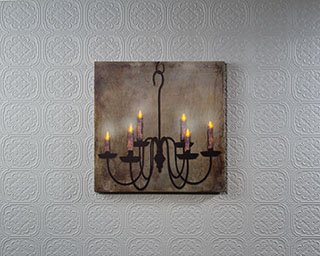 Lighted Wrought Iron Chandelier