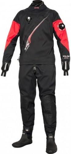 Bare Trilam Tech ドライ メンズ ダイビング ドライスーツ ブラック 2XL