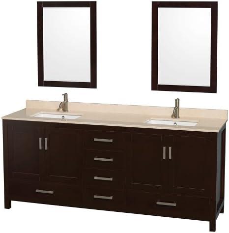Wyndham Collection Sheffield 80 inch Double Bathroom Vanity
