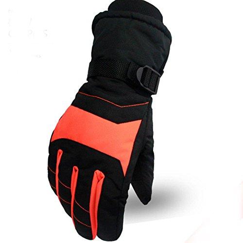 FidgetFidget Gloves New Men Women Warm Waterproof Snow Motorcycle Snowmobile Snowboard Ski Gloves Women Black+Orange