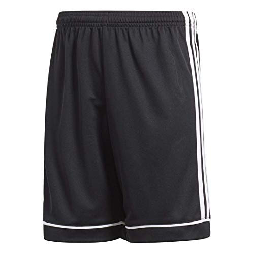 (adidas Youth Soccer Squadra 17 Shorts, Black/White , Large)