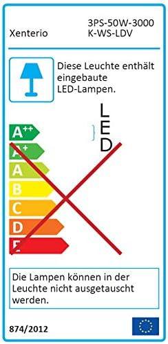 100/° Xenterio LED-Flutlichtstrahler f/ür 3-Phasen Stromschiene wei/ß 5500lm 6500K 50W