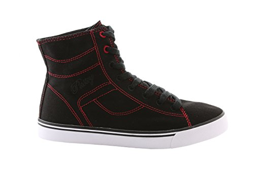 Pastry Cassatta Stretch Canvas Dance Sneakers, Black/Red, Size 8.5