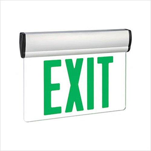 LED Exit Sign Universal Edge-Lit Green Letters 120/277 Volt Exitronix - Led Lit 277 Edge Volt