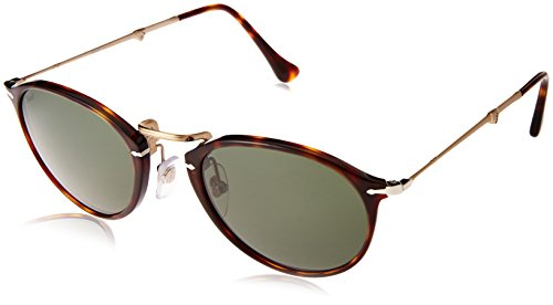 Persol PO3075S 24/31 Havana PO3075S Round Sunglasses Lens Category 3 Size - Persol Lenses