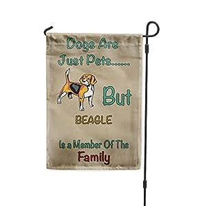 Perros Solo mascotas pero miembro de familia de Beagles de patio Patio Casa Jardín bandera