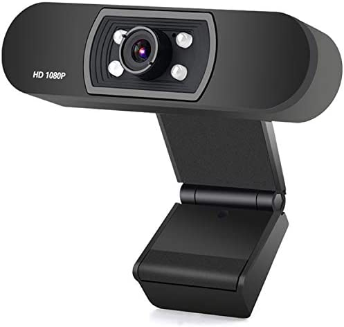 ANTZZON Webcam 1080P Full HD PC Skype Camera,with Microphone, Video Calling and Recording for Computer Laptop Desktop, Plug and Play USB Camera for YouTube, Compatible with Windows