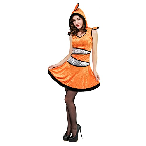DSplay Women's Clown Fish Fancy Dress Costumes (One