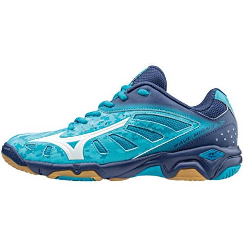 Mizuno Wave Mirage Jr White/NorseBlue/Silver