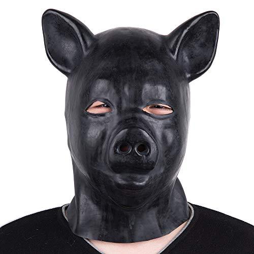 Yifei Latex Latex Rubber Hood Full Head Face Cosplay Club Beauty Mask -