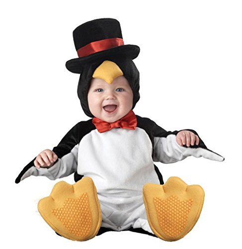 Dantiya Baby Costume Penguin Flannel Romper Photo Prop 9-12M