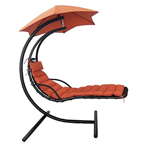 Blue Wave Island Retreat Hanging Lounge with Shade Canopy (Island Retreat Terra Cotta)