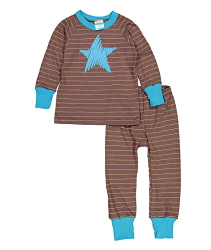 Cat and Cow Boys' Brown & Turquoise Star Pajamas