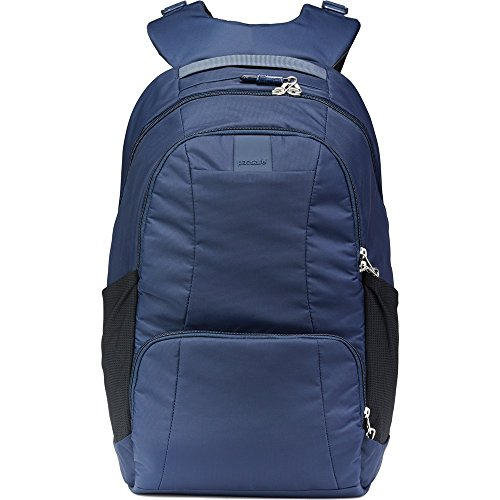 Pacsafe Metrosafe LS450 25 Liter Anti Theft Laptop Backpack - with Padded 15'' Laptop Sleeve, Adjustable Shoulder Straps, Patented Security Technology (Deep Navy) by Pacsafe (Image #3)