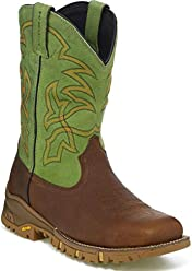 Tony Lama Mens Roustabout Green Waterproof 11